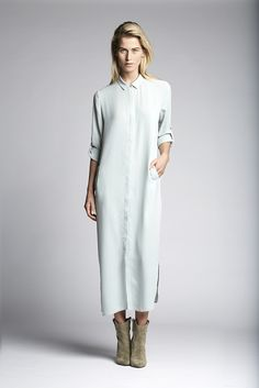 Maxi length shirt dress.   Fashion // clothing // woman // inspiration // www.dante6.com