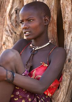 ✞Portrait of Christ ✞ African Tribes, African Women, We Are The World, People Around The World, Beautiful Black Women, Beautiful People, Himba Girl, Exotic Beauties, African Culture
