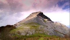 Anboto mountain, where the godness of the basque mythology lived.