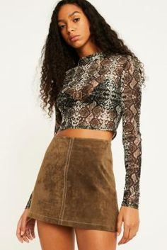 44193662c5 Snake Print, Urban Outfitters, Boho Outfits, Skater Skirt, Long Sleeve  Shirts,