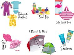Tips for taking a baby to the beach. Must haves for your baby on a beach vacation.