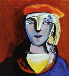 1936 Pablo Picasso (Spanish artist, 1881–1973) Marie-Therese Walter. http://bjws.blogspot.com/2011/06/evolution-of-womens-portraits-by.html