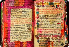 WTJ Write a List of More Ways to Wreck This Journal (by eklektick) Altered Books, Altered Art, Art Journal Pages, Art Journals, Travel Journals, Bullet Journals, Creative Journal, Creative Things, Wreck This Journal