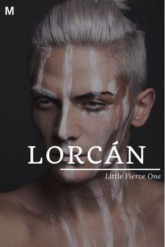 """Lorcan, was """"Little Fierce One"""" bedeutet, irische Namen, L Jungennamen, L Babynamen… – Girl Names L Baby Boy Names, Strong Baby Names, Unisex Baby Names, Baby Name List, Girl Names, Irish Boy Names, Pretty Names, Cute Names, Fantasy Character Names"""