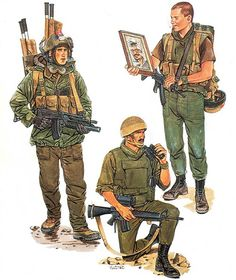 • Recon paratrooper, SAYERET TZANHANIM, 1985  • Sniper, YA'MA'M Border Guards, 1982  • Recon infantryman, SAYERET GOLANI, 1982