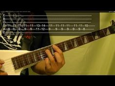 Easy! METAL ON METAL ( Guitar Lesson ) by ANVIL ( METAL SONG WITH TABS!))