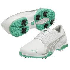3a1d755b9f7 2014 Womens PUMA BIOFUSION Golf Shoes White silver aqua Sz 7 M -retail