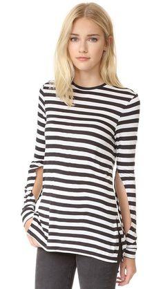 CHEAP MONDAY Road Top Cage Stripe. #cheapmonday #cloth #dress #top #shirt #sweater #skirt #beachwear #activewear