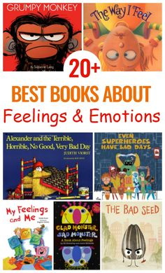 Preschool Books about Feelings and Emotions will get your children excited about learning and exploring their emotions. Books about Emotions for Toddlers and Preschoolers and The Best Picture Books About Emotions for Toddlers and Preschoolers Emotional Books, Social Emotional Activities, Emotions Activities, Social Emotional Development, Art Therapy Activities, Development Board, Feelings Preschool, Preschool Books, Toddler Preschool