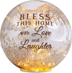 Bless Our Home LED Glass Lantern