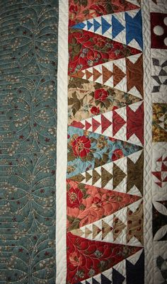 Dear Jane - border detail - customer quilt, quilted by Ruth McCormick ^