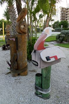 Homemade mailbox ideas general unique cool mailbox for Pelican motors fort myers florida