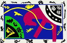 Henri Matisse, The Tobogan, from Jazz Suite, 1947, Pochoir on paper, 42.4 x 65 cm