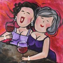 De lachende dames