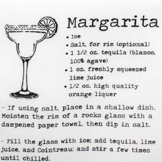 Margarita Recipe Pocket Square