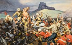 The Battle of Isandlwana (Original) art by James E McConnell
