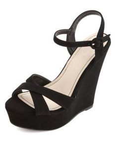 nubuck crisscross platform wedge sandals