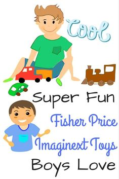 Check out the Fisher Price Imaginext Toys boys would find exciting!