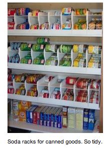 great organizational idea! This is what I want my pantry to look like please!