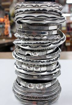 old pawn native silver bangles