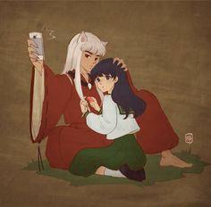 Resultado de imagen para inuyasha selfie