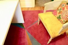 Great Idea if you have a boring rug you want to update