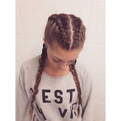 two dutch braids