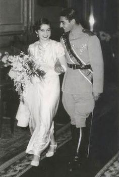 EMPRESS FAWZIA AND HER HUSBAND,MTHE SHAH OF IRAN.