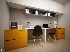 Pokój dziecka - zdjęcie od BIG IDEA studio projektowe - Pokój dziecka - BIG IDEA studio projektowe Home Office, Office Desk, Boys Desk, Living Room Cabinets, Teenage Room, New Room, Corner Desk, Studio, Furniture