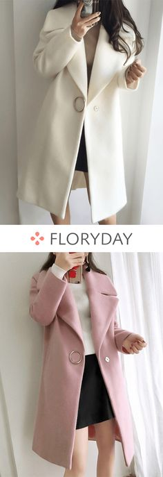 Shop Floryday for affordable Coats. Winter Outfits, Casual Outfits, Cute Outfits, Fashion Outfits, Womens Fashion, Fashion 2018, Stylish Coat, Coats For Women, Winter Fashion