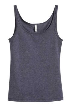 Jersey vest top: Fitted vest top in soft jersey.