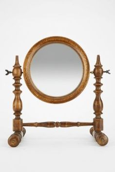 Magical Thinking Spindle Wood Tabletop Mirror