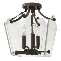 View the Hinkley Lighting 3003 3 Light Indoor Semi-Flush Ceiling Fixture from the Wingate Collection at LightingDirect.com.