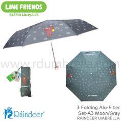 ร่มพับ 3 ตอน โครงอลุไฟเบอร์ Line Umbrella (ร่มสติ๊กเกอร์ไลน์) Line id: rdumbrella หรือ portrain www.rdumbrella.com