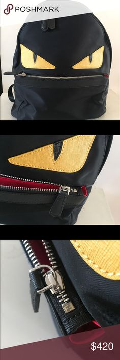 fendi monster backpack authentic, perfect condition. Fendi Bags Backpacks