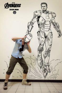 Comic Book Illustrations Cross Over Into the Real World - My Modern Metropolis #Disney #IronMan #Gaikuo-Captain