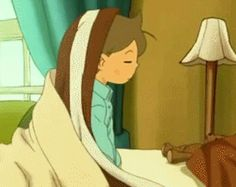 This was the cutest professor layton moment