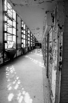 Black & White Prison Photography Old Abandoned Jail Photo Missouri State Penitentiary Empty Cell Block Photo by SilverBirdBoutique on Etsy