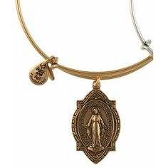 Alex and Ani Mother Mary Expandable Wire Bangle Russian Gold
