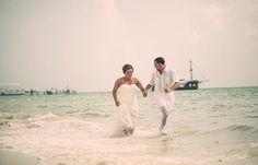 Amy & Anthony's destination wedding in Punta Cana; Punta Cana beach wedding, beach wedding in Punta Cana, beach wedding photography, trash the dress @destweds