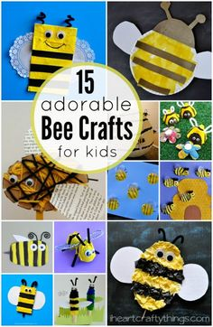 15 Adorable Bee Crafts for Kids   I Heart Crafty Things
