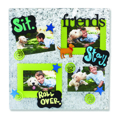 Create your own Memo Boards with magnetic frames and embellishments. Change out colorful magnets and favorite photos for unique year round displays. Chalkboard Magnet and Galvanized Memo Board from Embellish Your Story by Roeda.