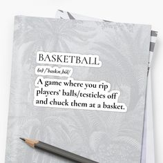 'Basketball Definition' Sticker by Unbeatable Apparel Glossier Stickers, Definitions, Basketball, Printed, Awesome, People, Art, Products, Art Background