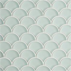 View our Moroccan-style fish scale tiles, including Glacier Light Green Glass Scallop Mosaic Tiles. Explore the whole range at Mandarin Stone. White Mosaic Tiles, Mosaic Glass, Green Tiles, Glass Tile Backsplash, Glass Tiles, Wall Tiles, Kitchen Backsplash, Cement Tiles, Kitchen Reno