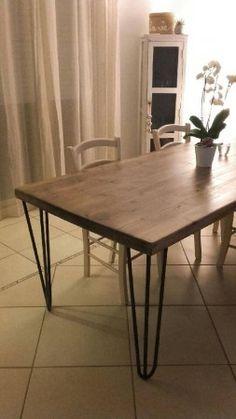 Fabriquer sa table à manger est un jeu d'enfant avec nos pieds de table en tête d'épingle