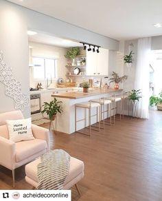 38 creative small kitchen design and organization ideas 21 Kitchen Room Design, Home Room Design, Dream Home Design, Modern Kitchen Design, Home Decor Kitchen, Interior Design Kitchen, Home Kitchens, Living Room Designs, Kitchen Layout