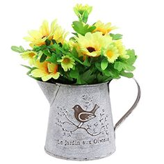 French Country Vintage Bird Decorative White Shabby Chic Mini Metal Pitcher Flower Vase - MyGift® MyGift http://www.amazon.com/dp/B013AIZVZM/ref=cm_sw_r_pi_dp_prY.vb0GXCTX4