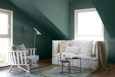LADY Perfection Tak i fargen 6325 Balanse Jotun Lady, Nordic Living, Wall Paint Colors, Hanging Chair, Future House, Townhouse, Colours, Interior Design, Bedroom