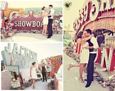 Las Vegas Engagement Session. Neon Graveyard.