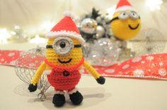 Amigurumi Minion Papá Noel